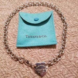 Tiffany co heart necklace
